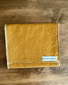 MUSTARD SEED burp cloth