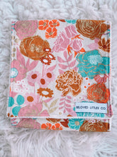 Load image into Gallery viewer, FLORAL OASIS burp cloth