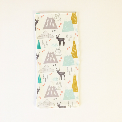 WOODLAND WONDER Handmade Burp Cloth