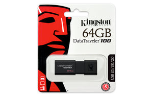 DT100G3/64GB - Pen Drive de 64GB USB 3.0 Data Traveler Série 100G3