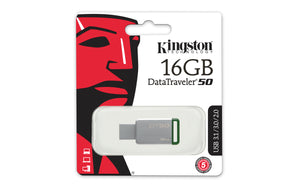 DT50/16GB - Pen Drive de 16GB USB 3.0 Data Traveler Série 50