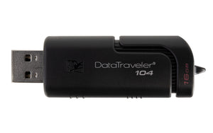 DT104/16GB - Pen Drive de 16GB USB 2.0 Data Traveler Série 104