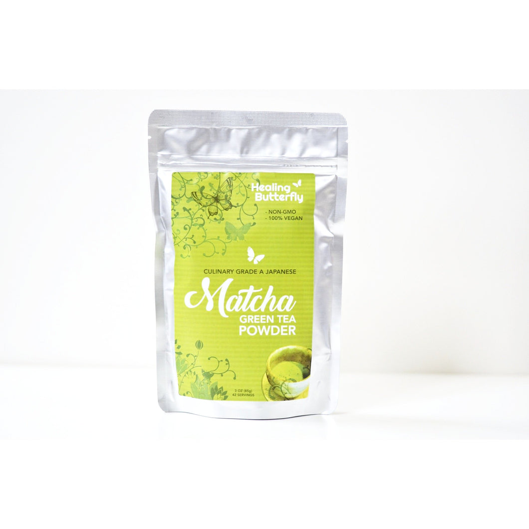 Healing Butterfly Matcha Green Tea Powder