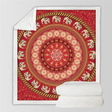 Red Elephant Sherpa Fleece Throw Blanket