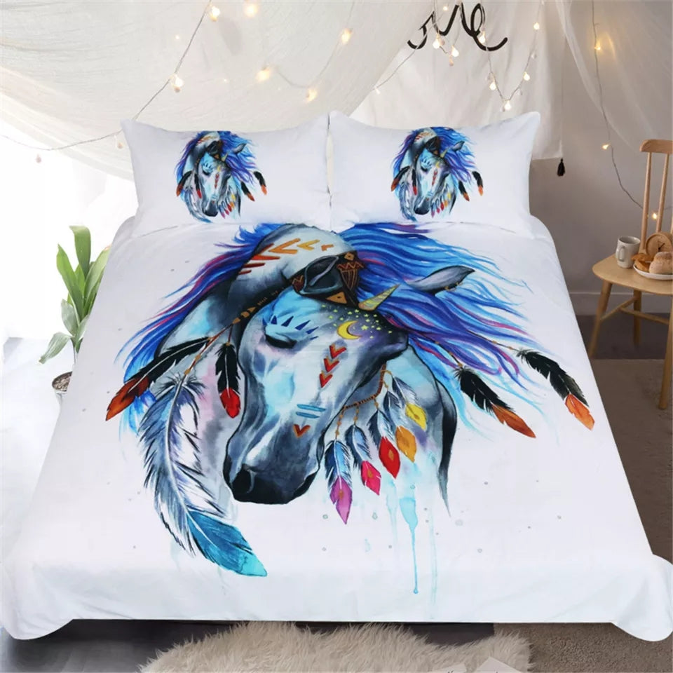 Horse Duvet Cover Set