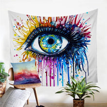 Rainbow Fire Eye Tapestry