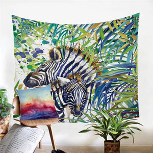 Watercolor Zebra Tapestry