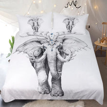 Black And White Elephant Duvet Cover Set