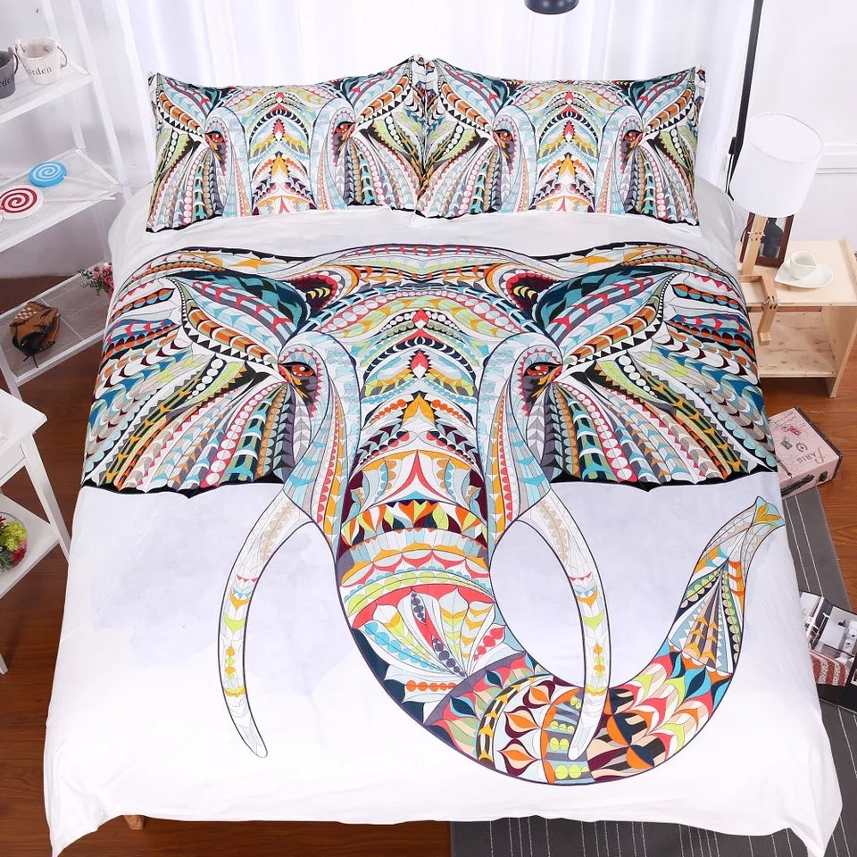 3D Elephant Duvet Cover Set