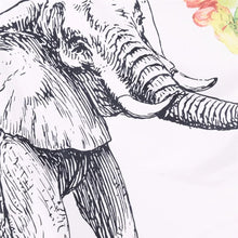 Elephant With Floral Tapestry