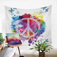 Watercolor Butterfly Tapestry