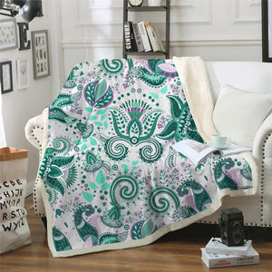 Floral Paisley Throw Blanket