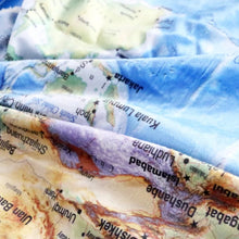 World Map Sherpa Fleece Throw Blanket