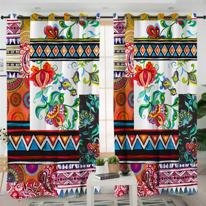 Patchwork Pattern Curtain