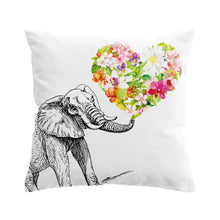 Elephant Heart Cushion Cover
