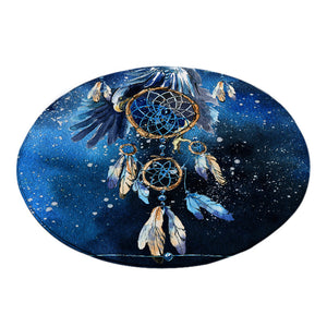 Feather Dreamcatcher Round  Mat