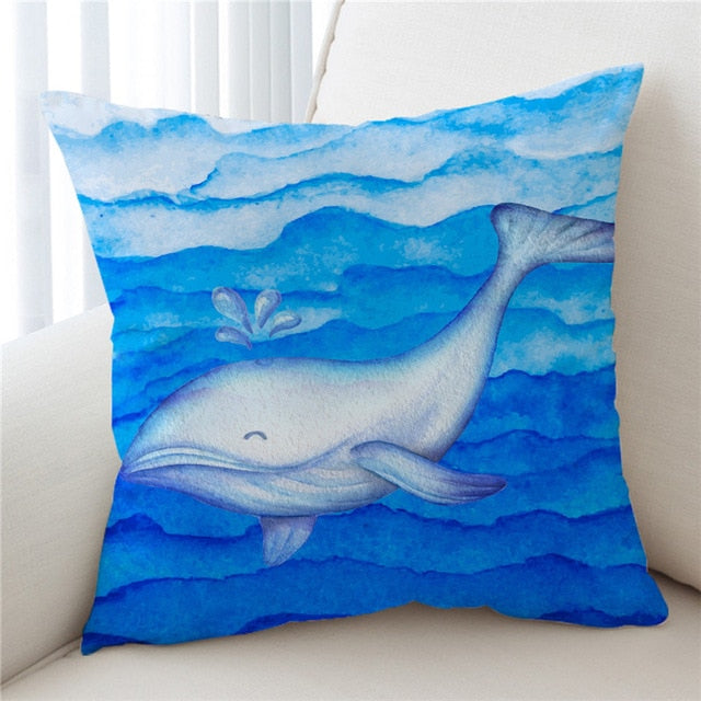 Whale Cushion Cover
