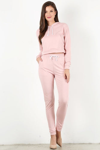 Light Pink Sweat Suit Set