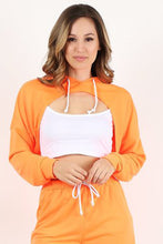 Load image into Gallery viewer, Neon Orange Crop Hoodie