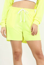 Load image into Gallery viewer, Neon Yellow Jogger Short