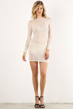 Load image into Gallery viewer, White Mesh Mini Dress