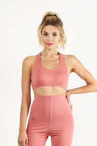 Peach Halter Top