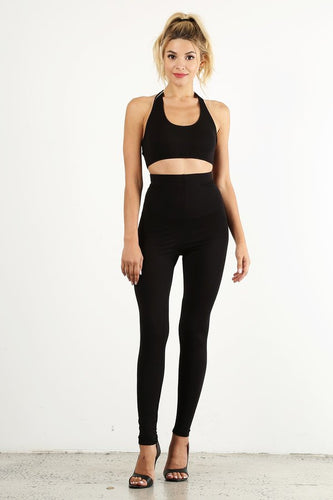 Black 2pc Legging Set