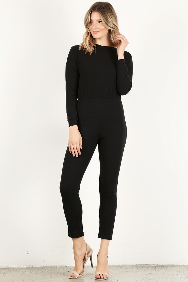 Black Long Sleeve Unitard