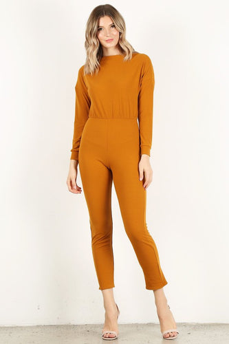 Mustard Long Sleeve Unitard