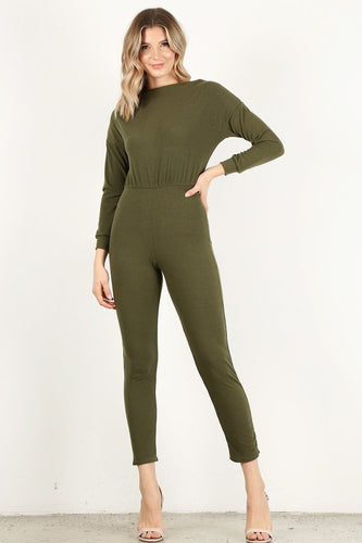 Olive Long Sleeve Unitard