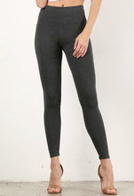 Load image into Gallery viewer, Charcoal Mid Waist Cotton Leggings