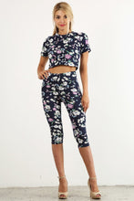 Load image into Gallery viewer, Floral Capri Set