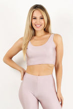 Load image into Gallery viewer, Light Pink Shiny Crop Tank