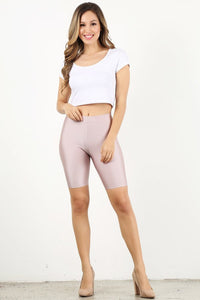 Dusty Pink Shiny Biker Shorts (Bulk)