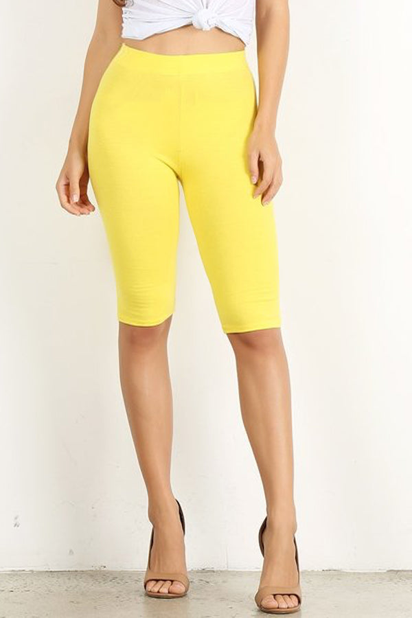 Yellow Biker Short