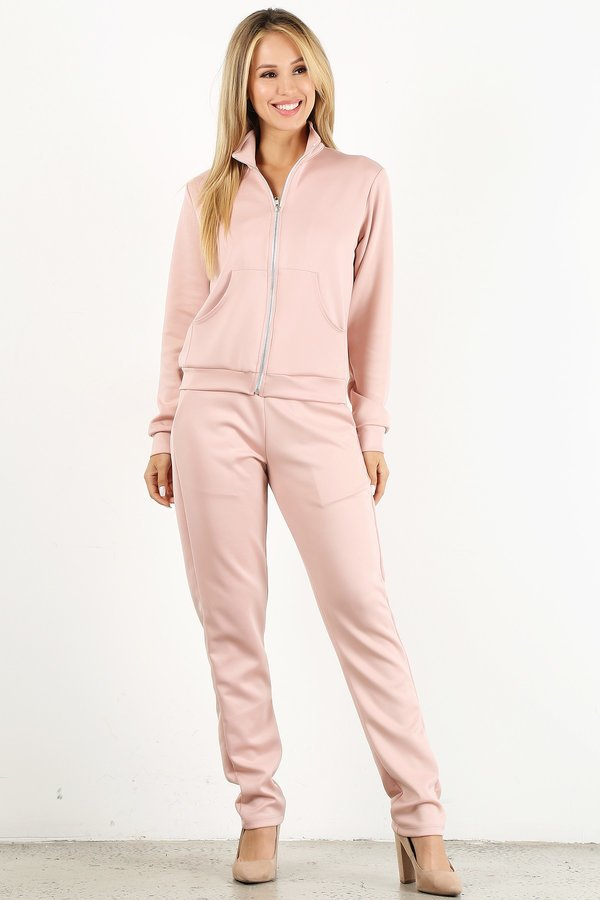 Dusty Pink Tracksuit Set