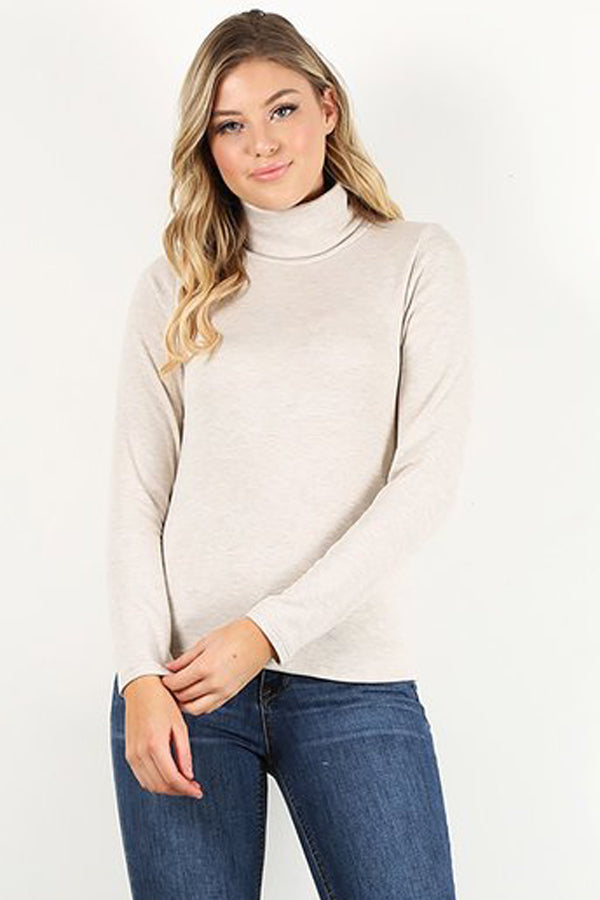Oatmeal Turtle Neck shirt
