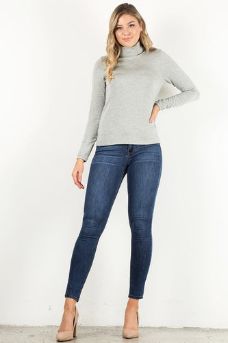 Heather Grey Turtle Neck shirt
