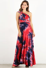 Load image into Gallery viewer, Red Dyed Infinity Maxi Dress