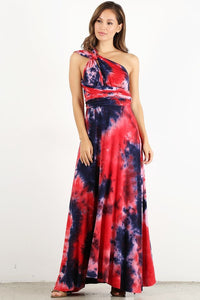 Red Dyed Infinity Maxi Dress