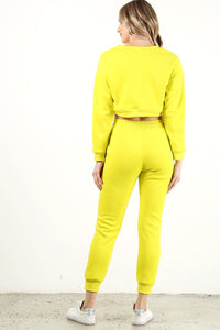 Neon Yellow Sweat Pants