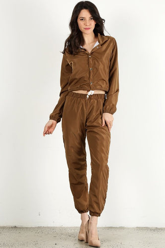 Brown Wind Breaker Set