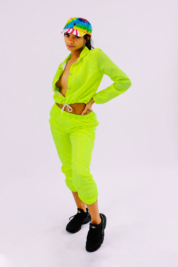 Neon Lemon Wind Breaker Set