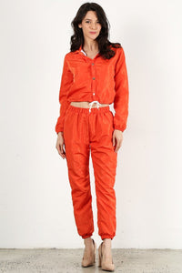 Dark Orange Wind Breaker Set