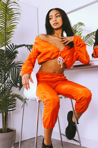 Deep Orange Wind Breaker Set