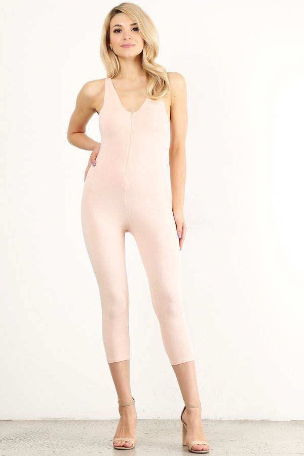 Blush Capri Unitard