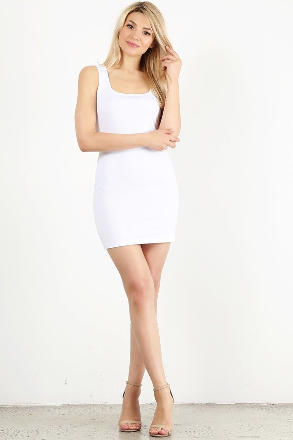 White Mini Tank Dress