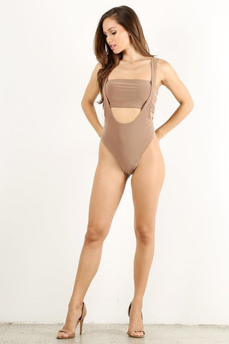 Tan 2pc Overall Swimsuit