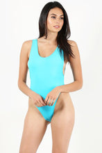 Load image into Gallery viewer, Neon Blue One Piece Bathing suit