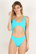 Load image into Gallery viewer, Light Sky Blue Open Front Swimsuit